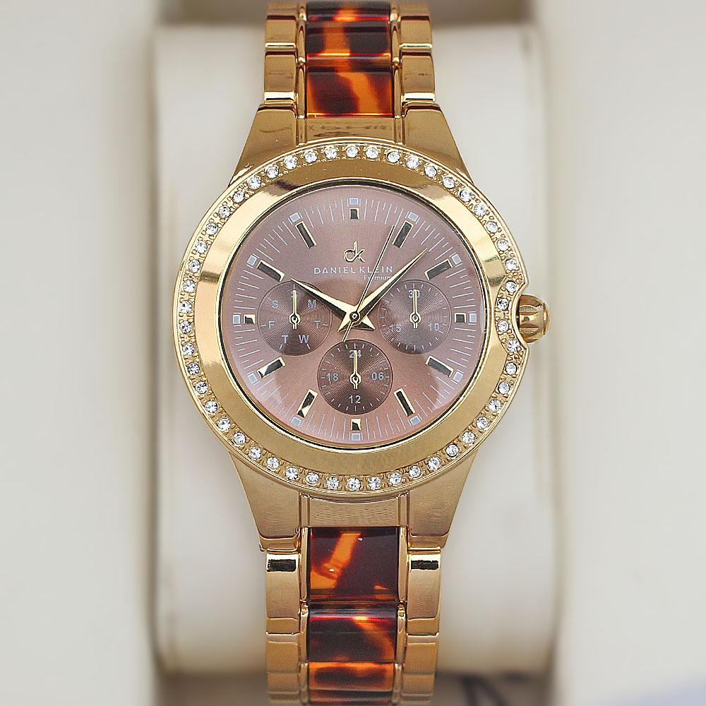 Daniel Klein Studded 2-Tone Fashion Ladies Watch