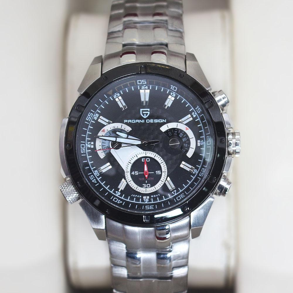 P-Design Stainless Steel Chronograph Watch
