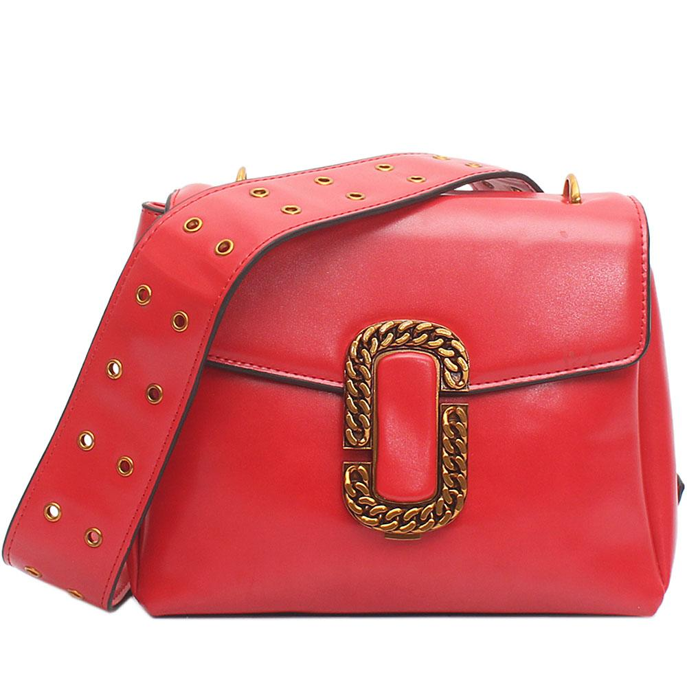 Bonita Red Leather Small Handbag