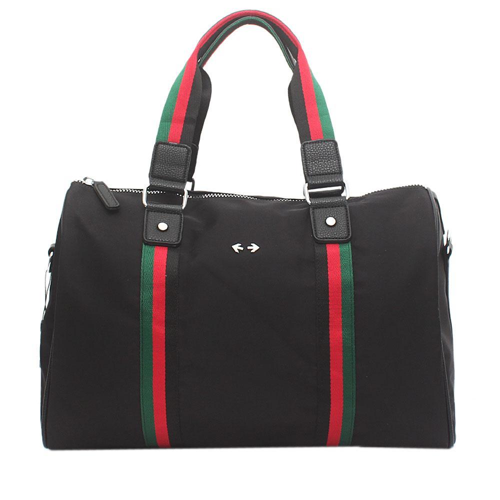 Black Fabric Leather GG Supreme Bag