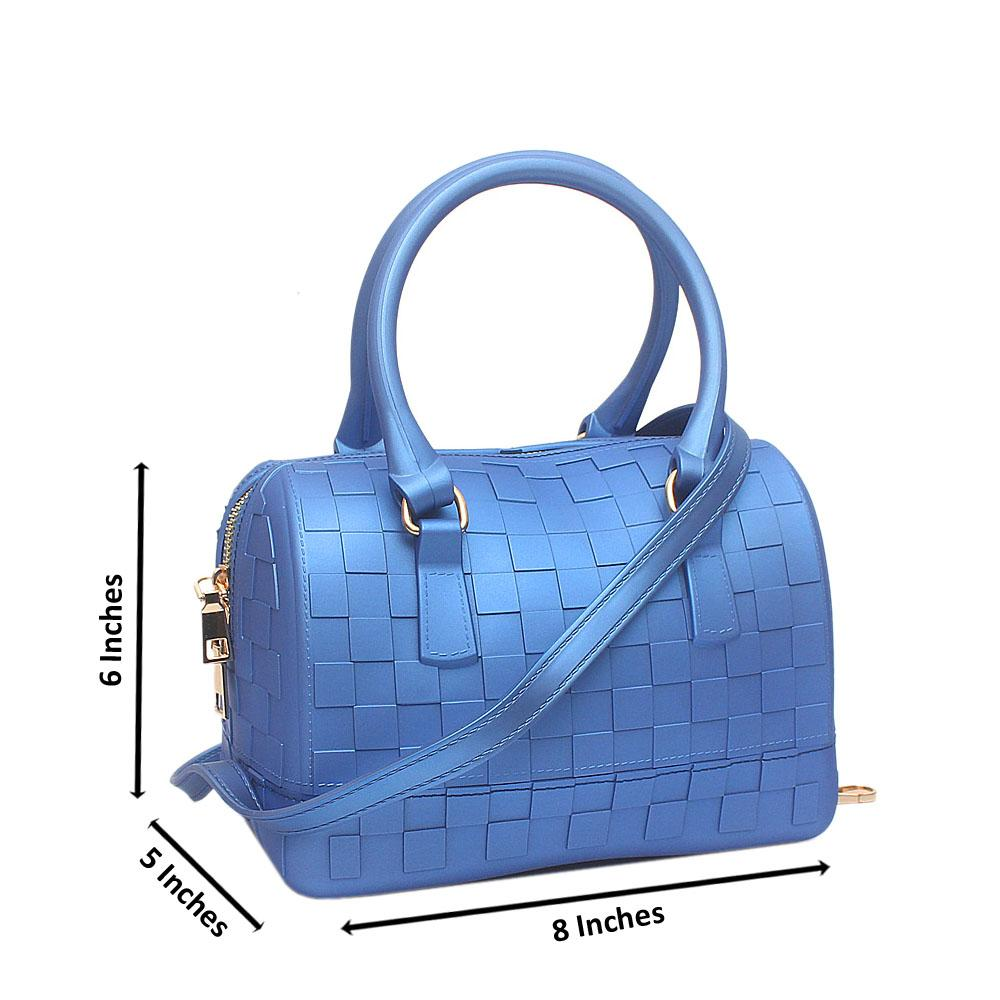 Blue Checked Small Rubber Bag