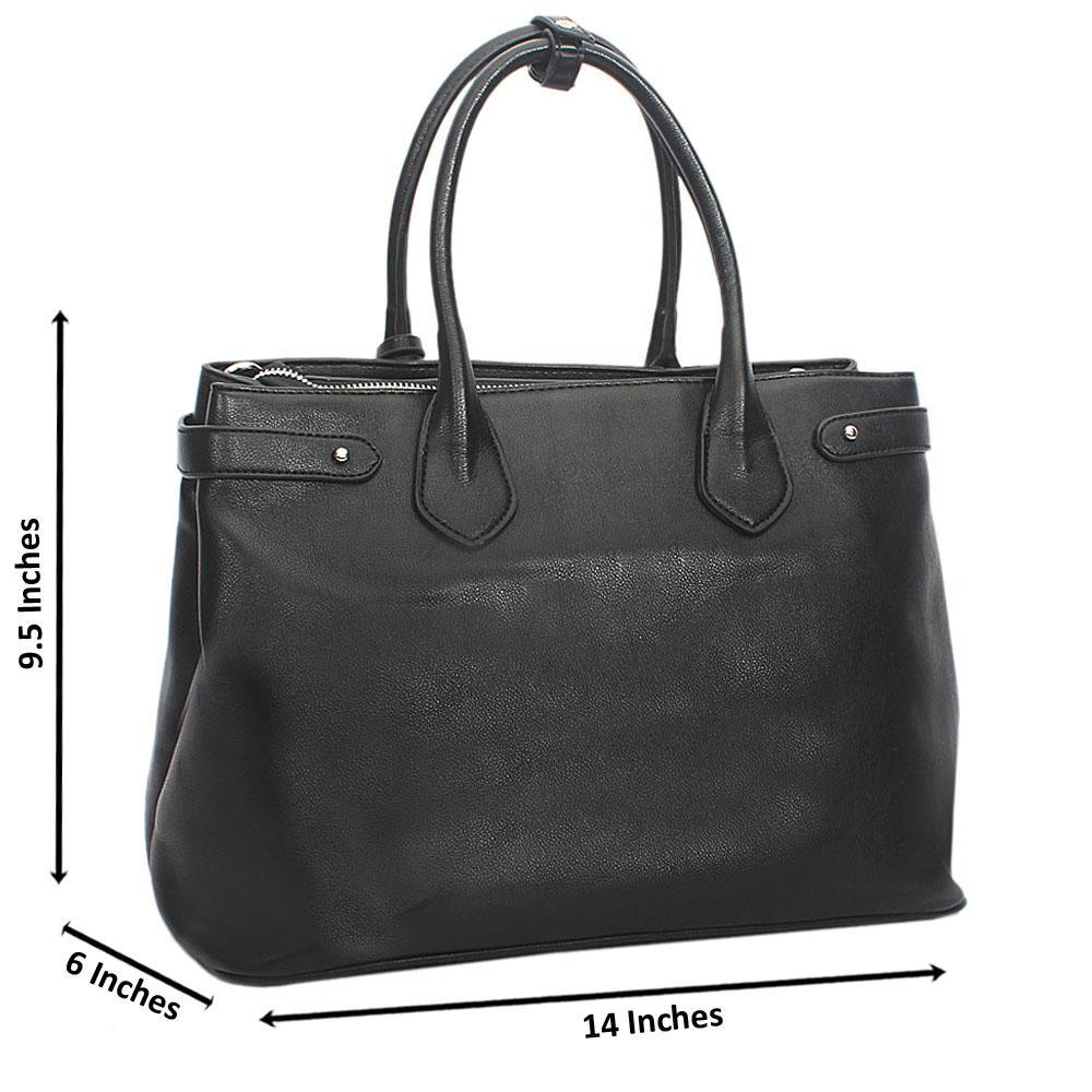 Black Saffiano Tote Handbag
