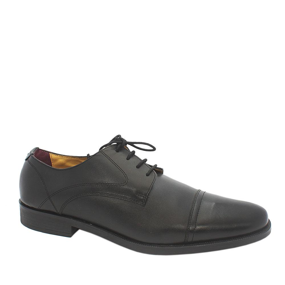 M & S Luxury Collection Black Leather Men Shoe
