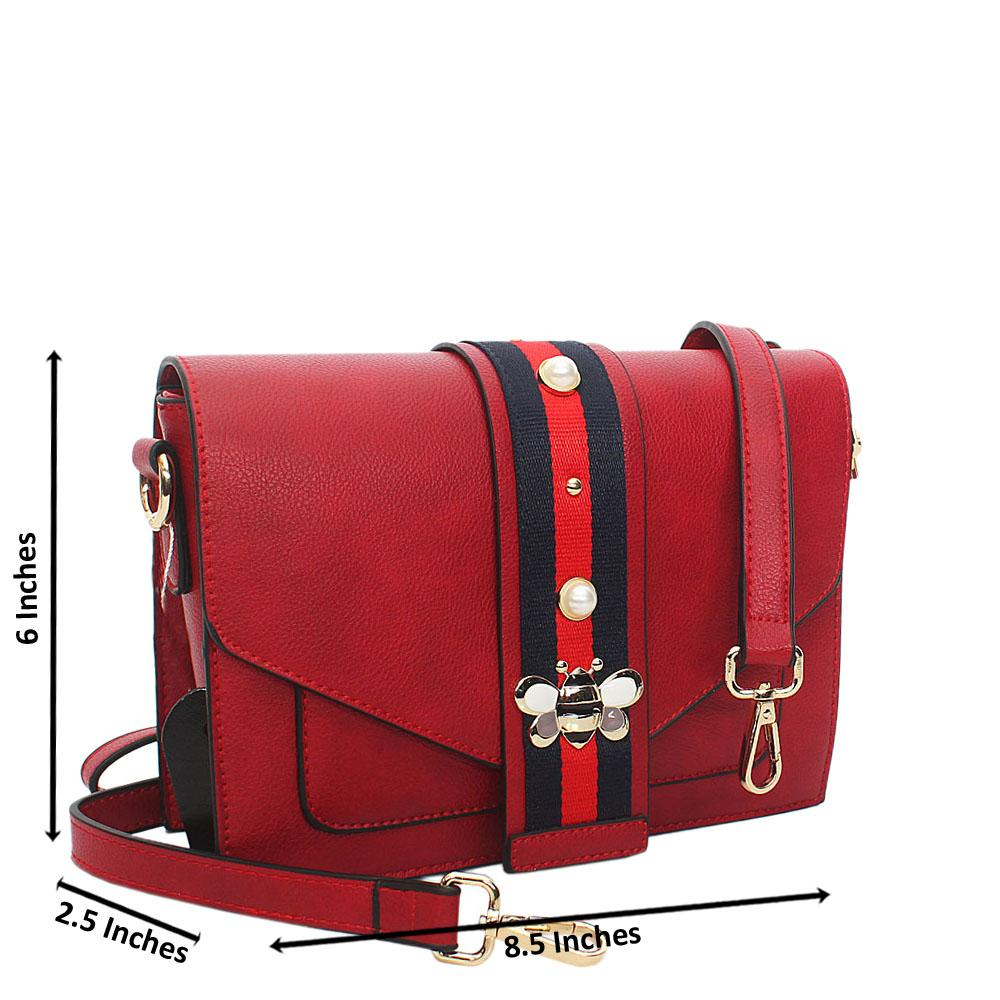Red Scarlett Leather Crossbody Handbag