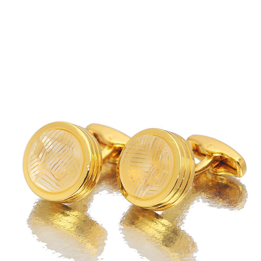 Gold Precious Ice Stainless Steel Cufflinks