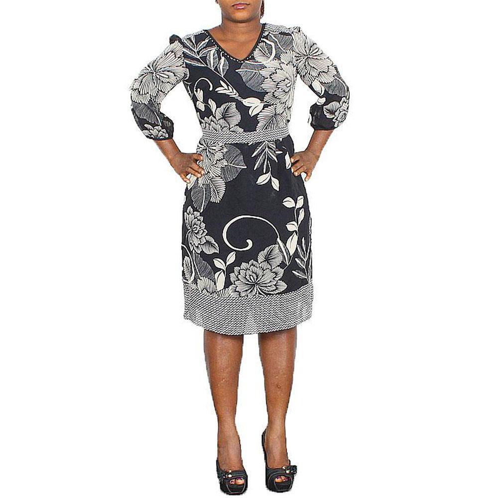 M & S Black Mixed Ladies Dress-UK 8