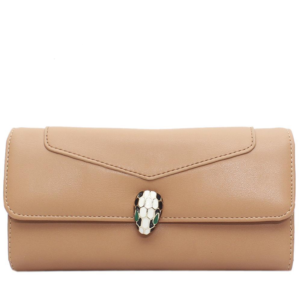 Brown-Leather-Ladies-Wallet