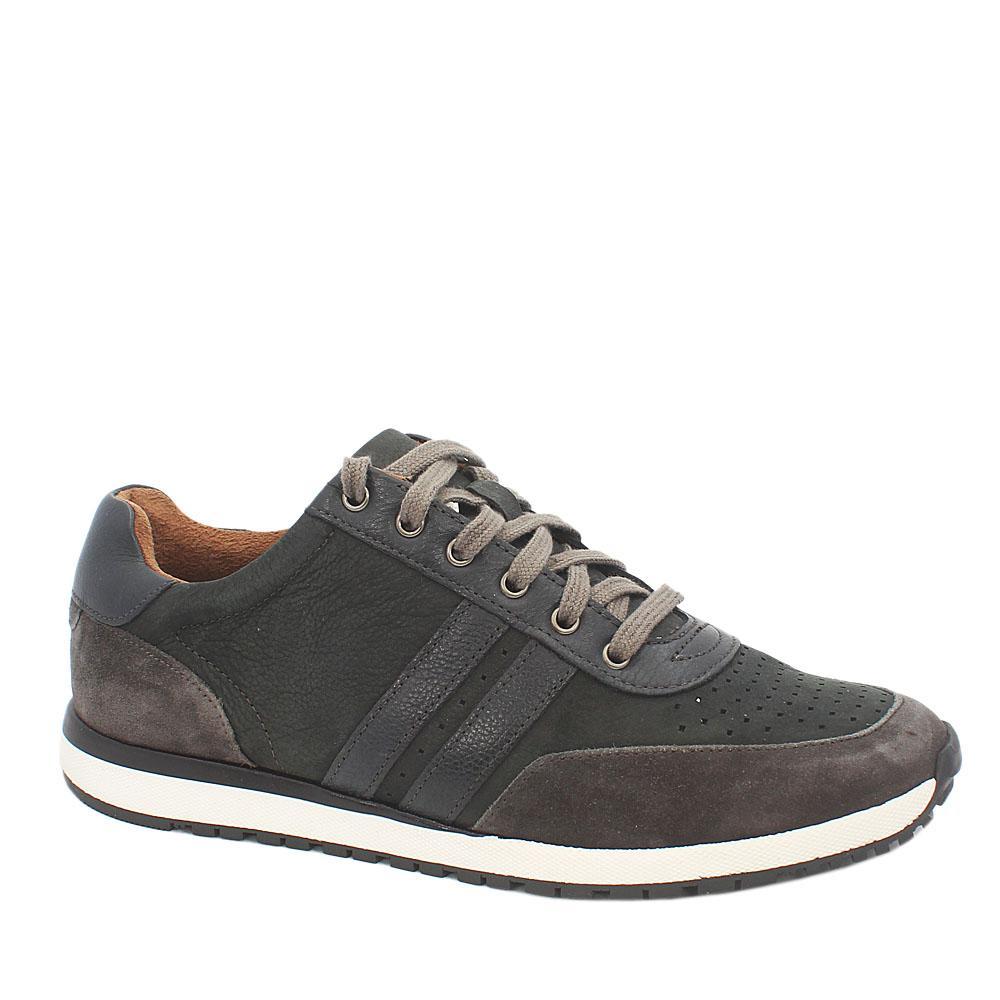 M & S Active Desert Green Suede Leather Men Sneakers