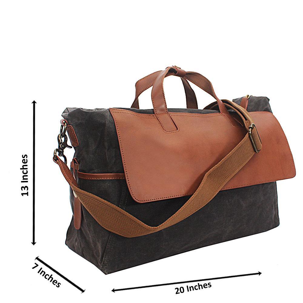 Deep Gray Water Proof Khaki Duffel Bag