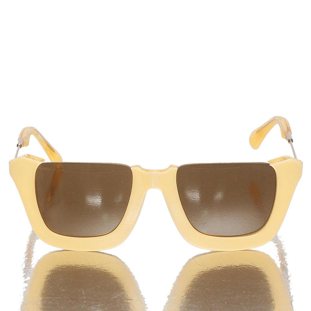Gold Cream Club Master Brown Lens Sunglasses