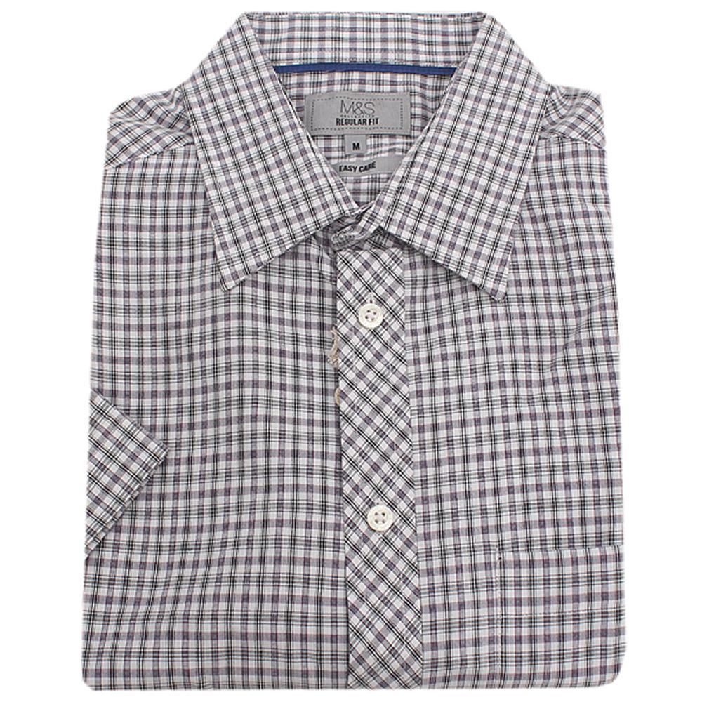 M & S Collection Multicolor  S/Sleeve Men Shirt