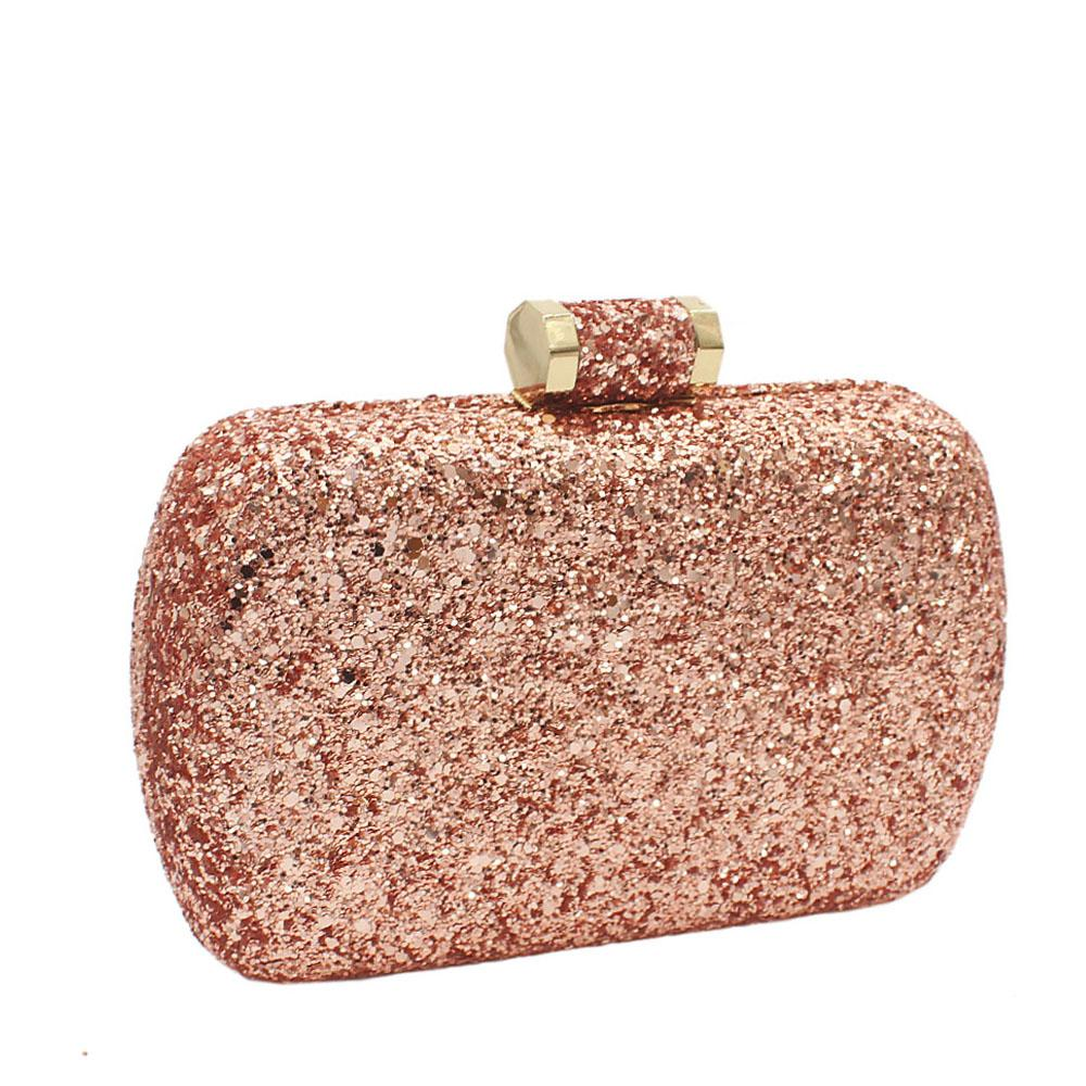 Champagne Alice Glitz Clutch Purse