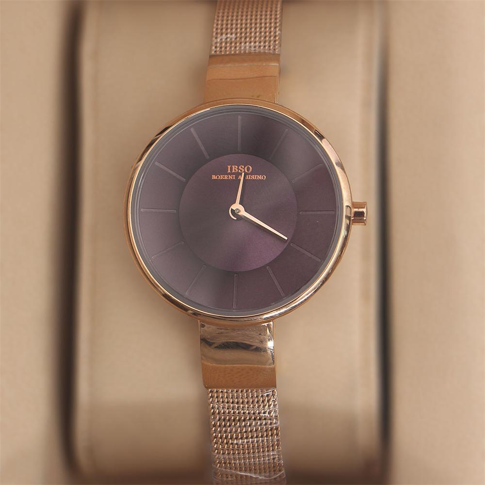 Ella Rose Gold Purple Stainless Mesh Ladies Watch