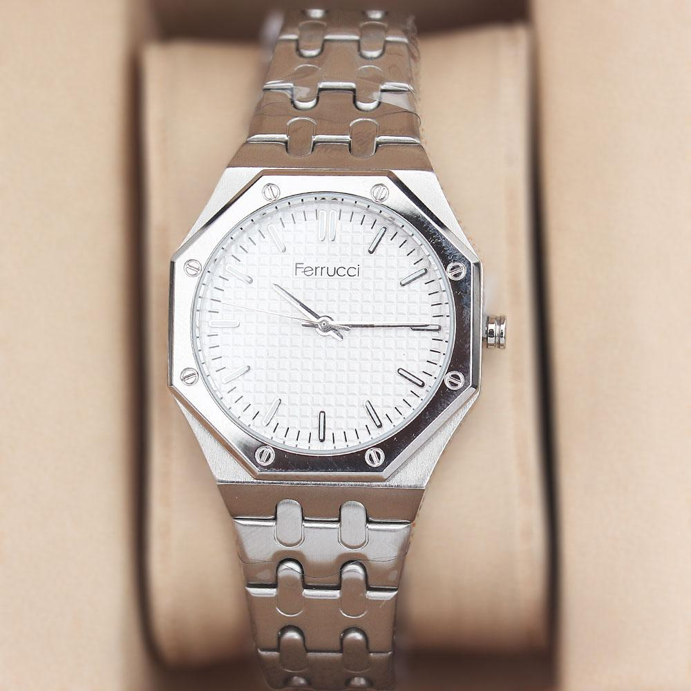 Ferrucci Octagonal Silver Chain watch