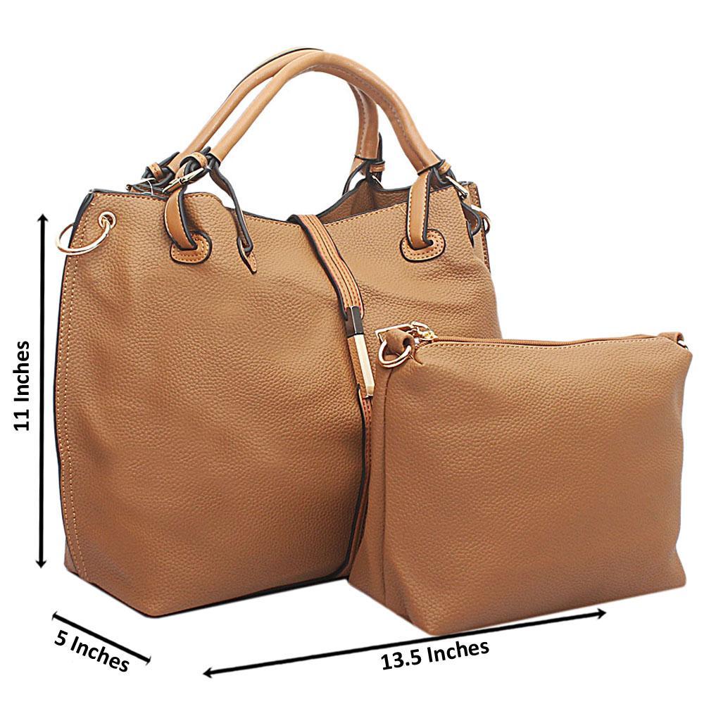 Earth Yellow Oxygen Leather Handbag
