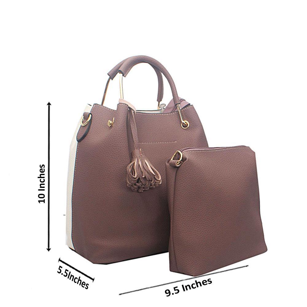 White Lilac Floxy Tandy Leather Handbag