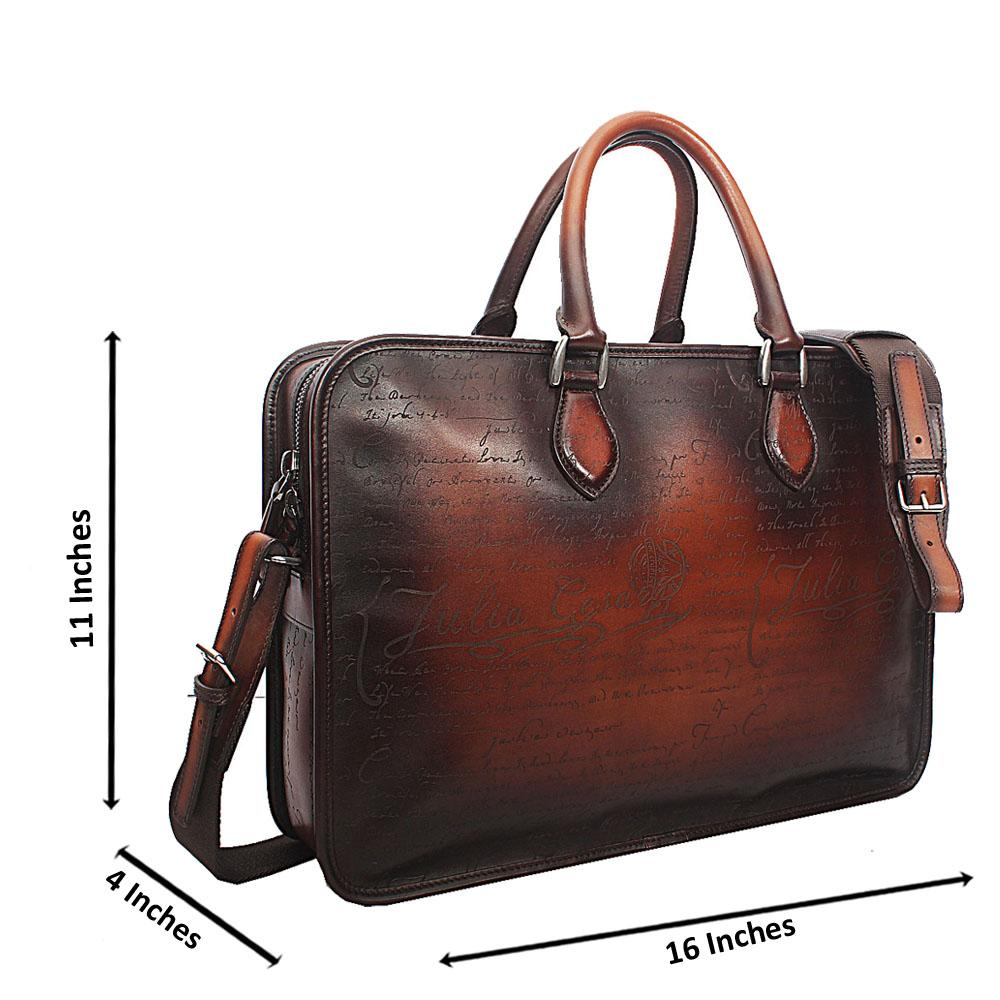 Julius Ceaser Brown Cow-Leather Man-Bag