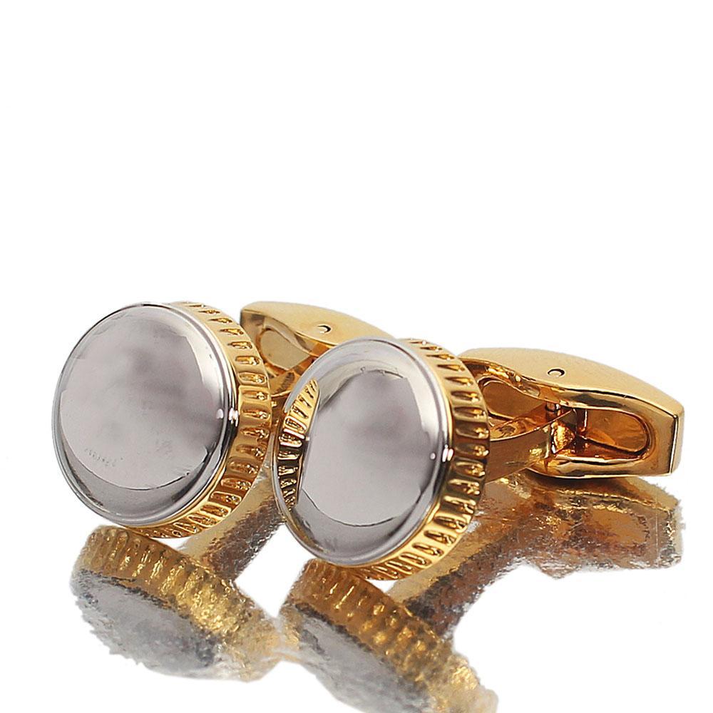 Silver Gold Stainless Steel Cufflinks