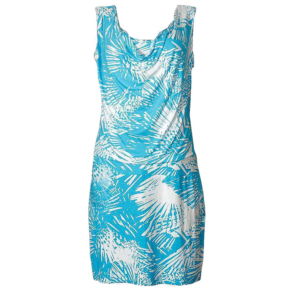 New York Blue/Cream Mix Stretchy Short Dress