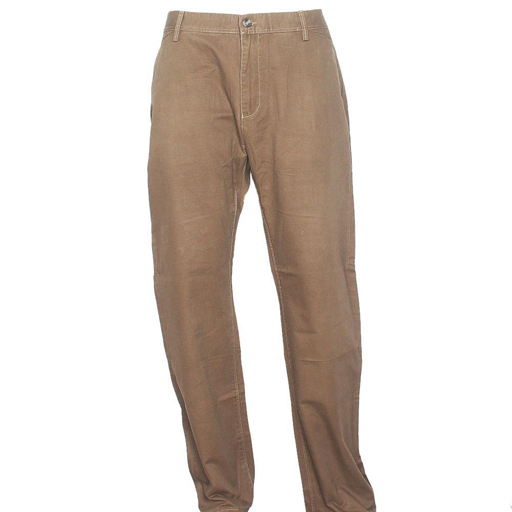 Longobss Coffee Brown Straight Leg Men Chinos