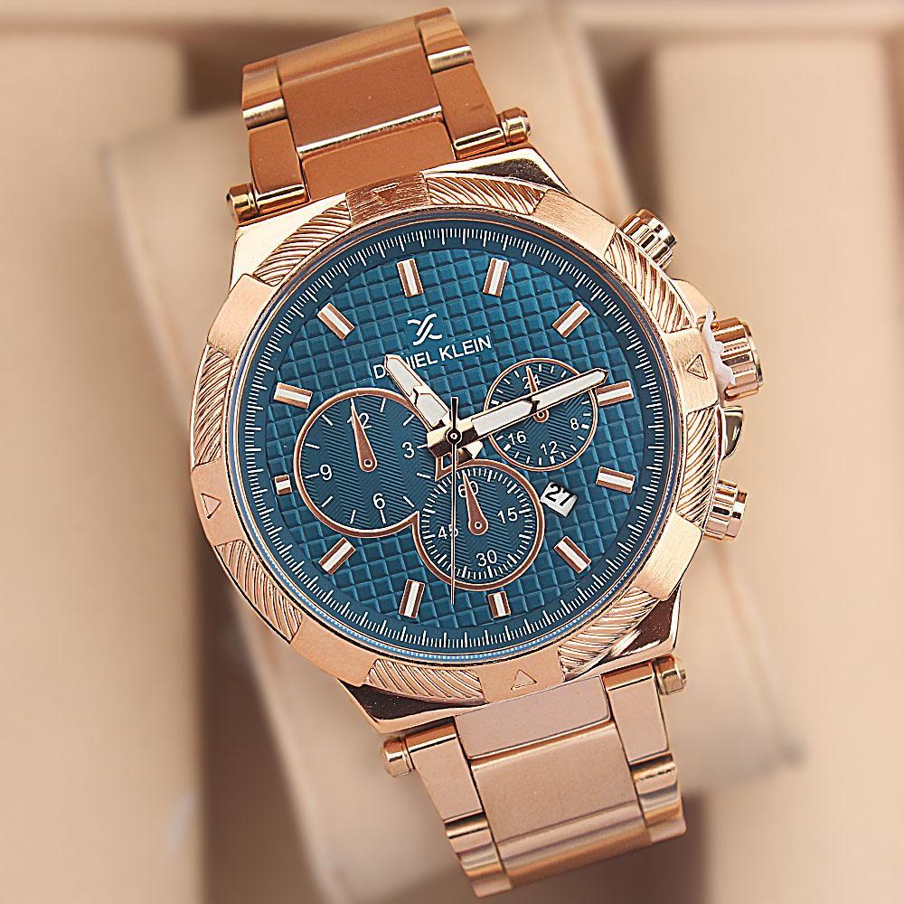 Daniel Klein Gold Steel Fashion Watch