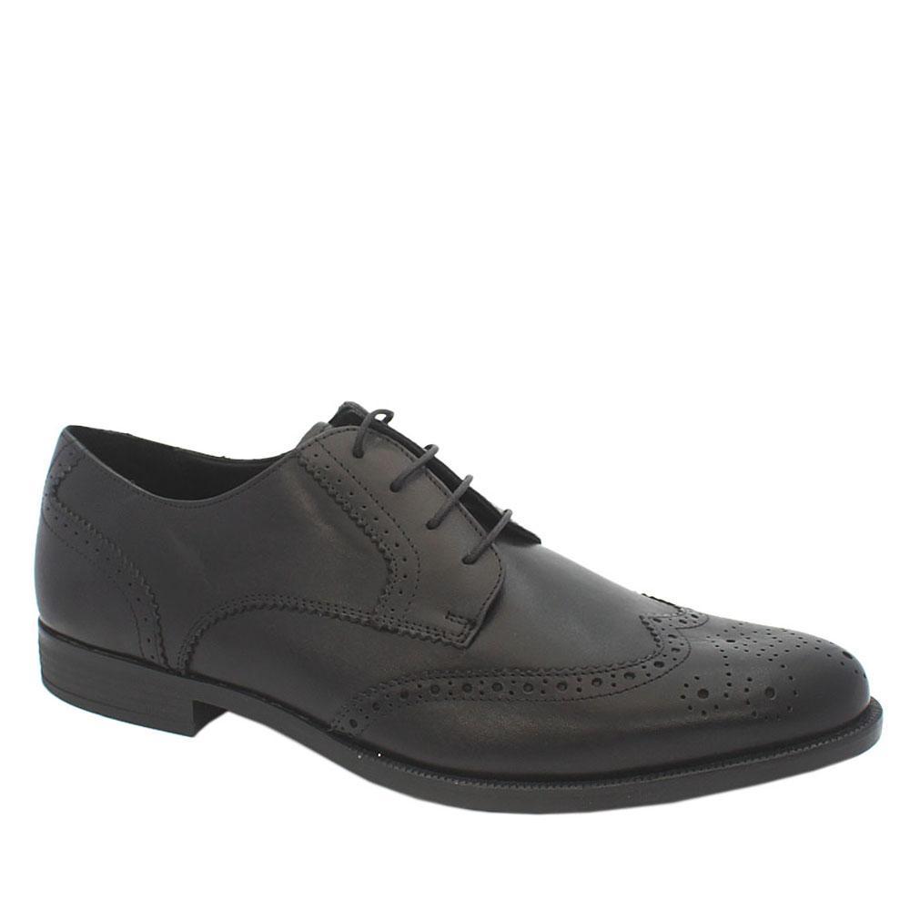 M & S Collection Black Leather Men Shoe