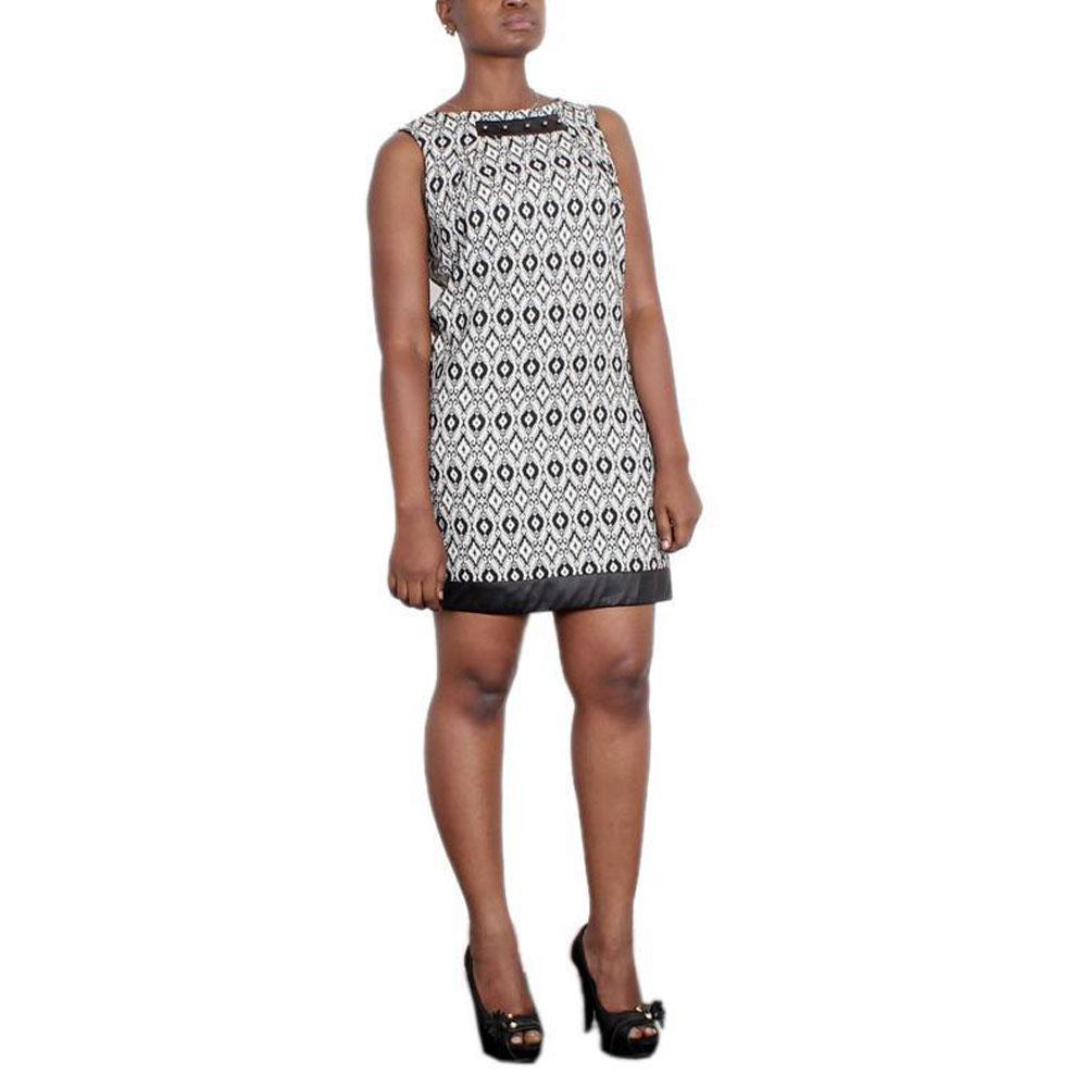 OBJ Collection Monochrome Cotton Sleeveless Dress