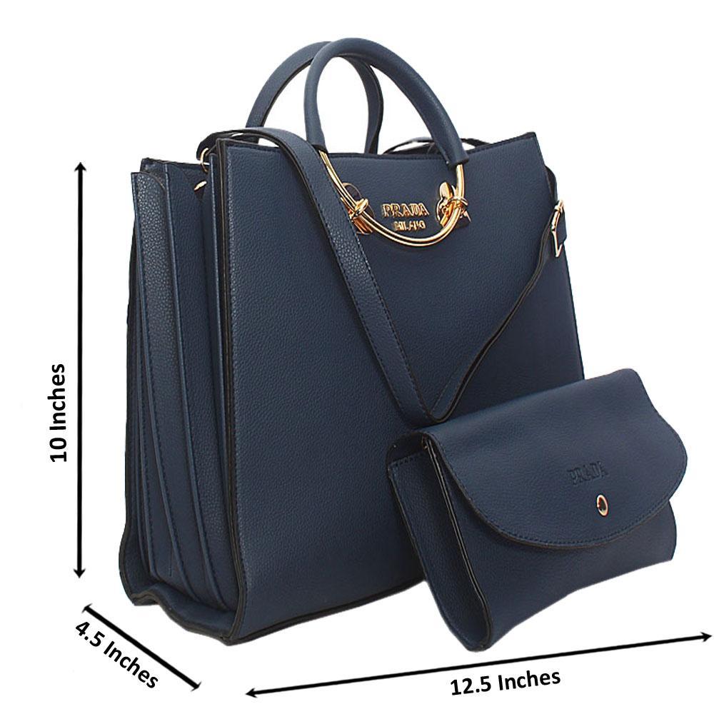 Blue-Natalie-Leather-Metal-Handle-Tote-Handbag