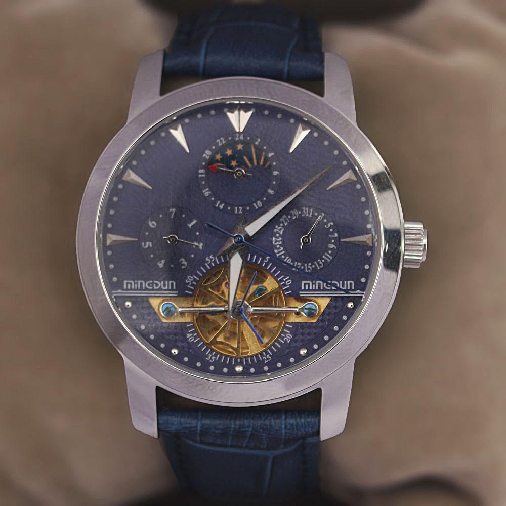 Shanghai Legendary Blue Premium Croc Leather Automatic Watch