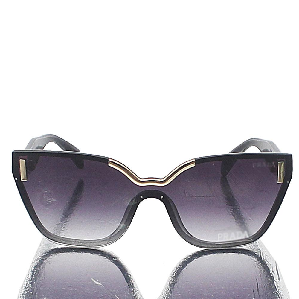 Black Shield Dark Lens Sunglasses