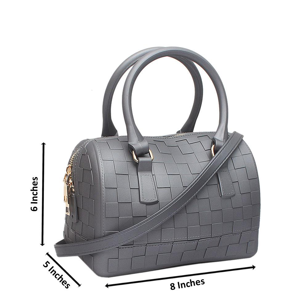Grey Checked Small Rubber Bag
