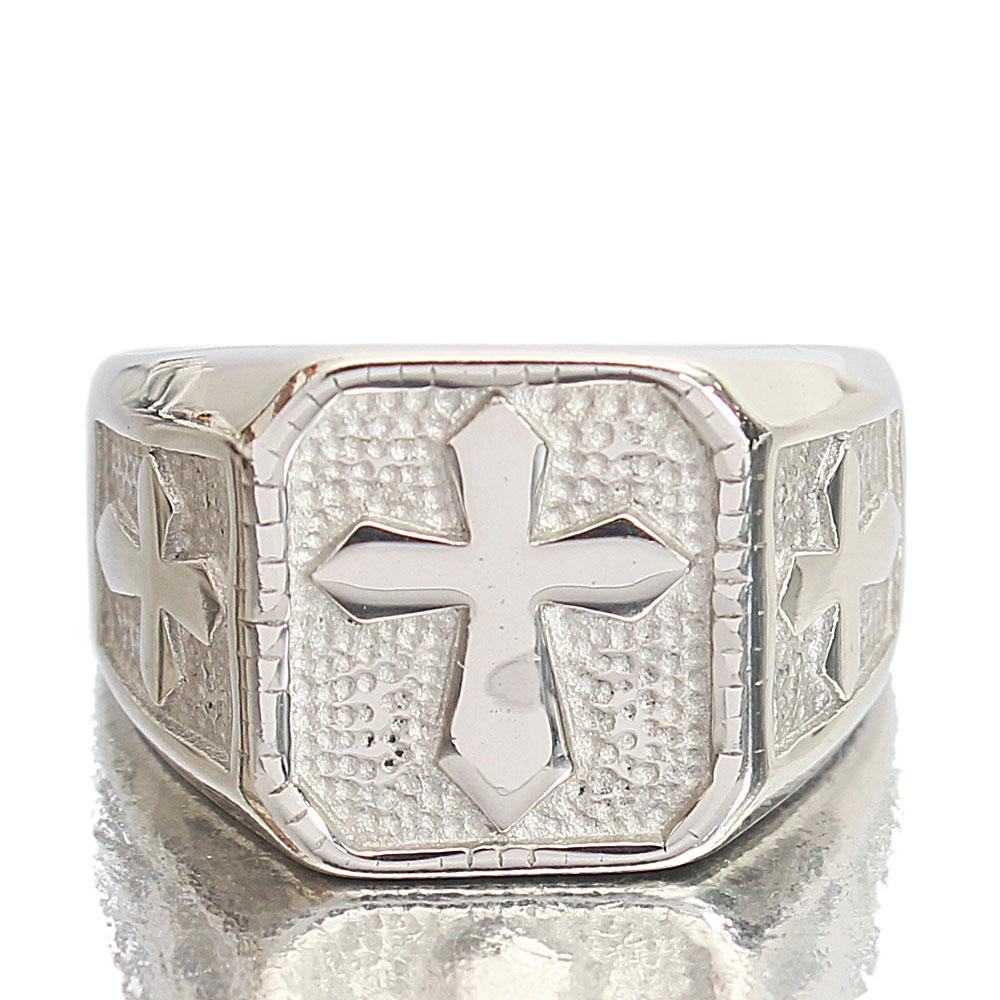Silver Steel Bishop Ring