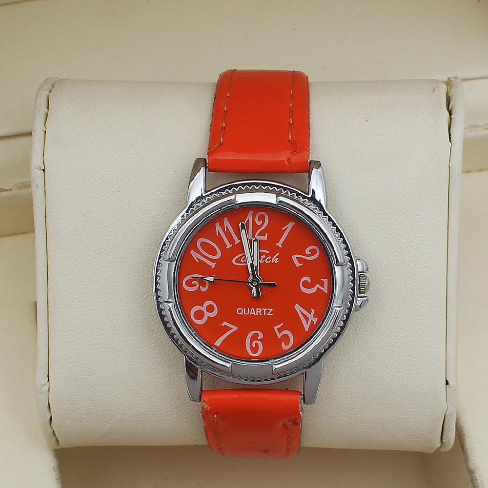 Cwatch Orange Leather Ladies Watch