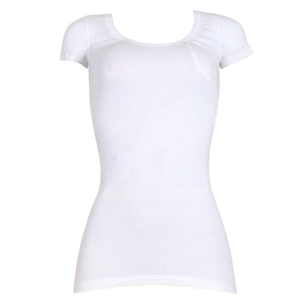 Abercrombie & Fitch White Fitted Top wt Front Pocket Sz XS