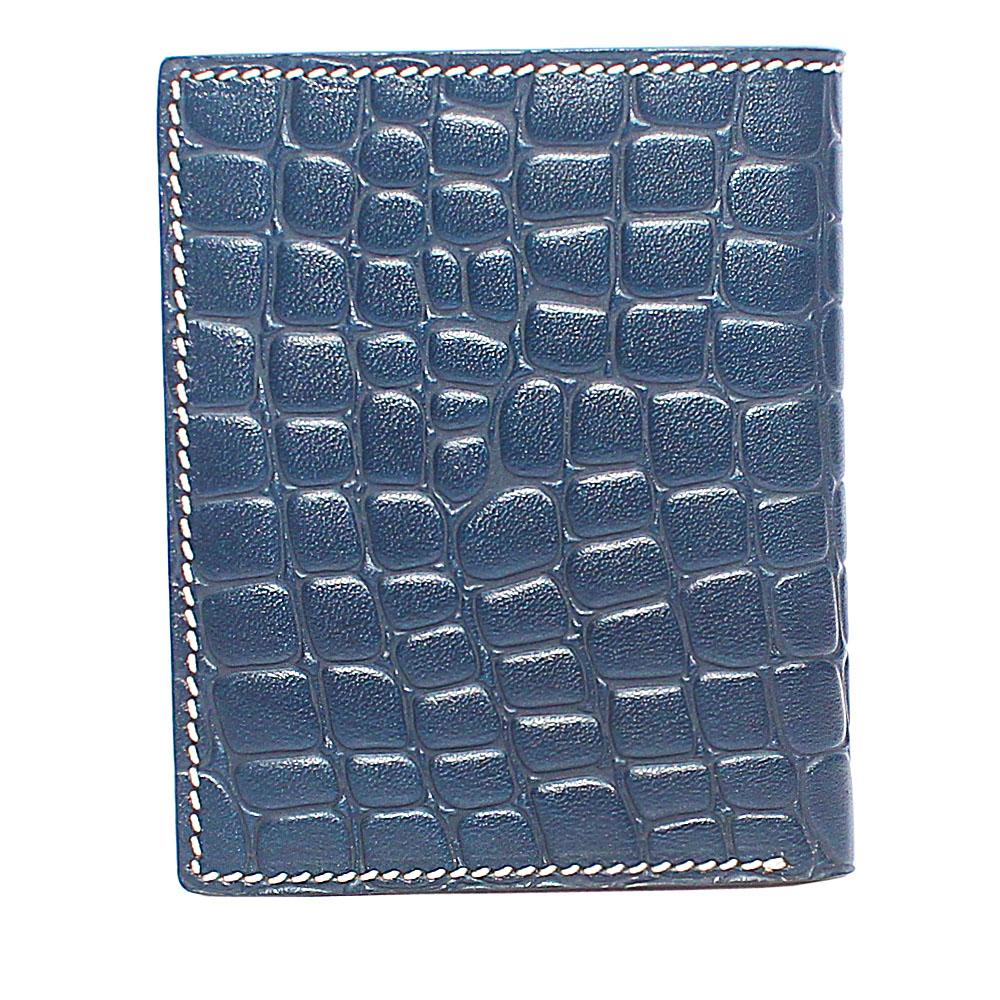 Blue Single Fold Leather Wallet