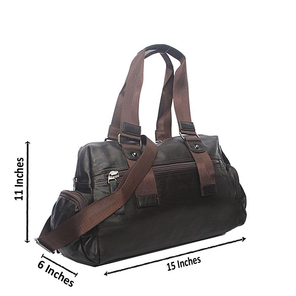 Casania Coffee Double Zip Overnight Travel Bag