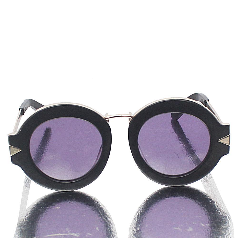Black Round Dark Lens Sunglasses