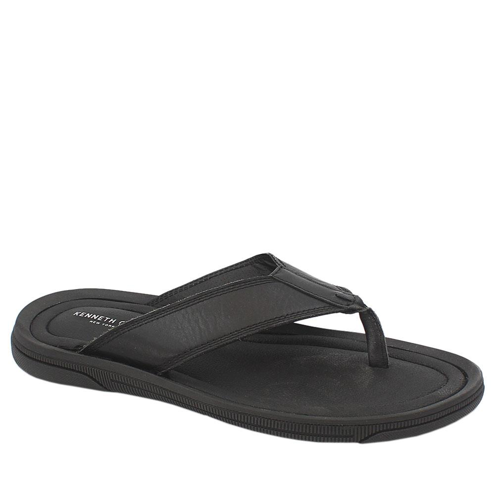 Kenneth Cole Black Leather Men Slippers
