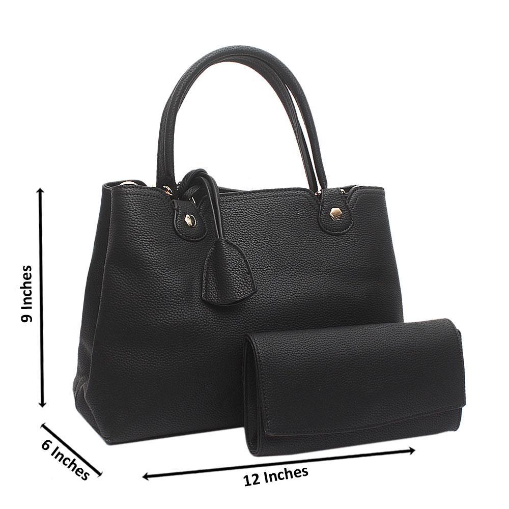 Black Malinda Medium Leather Handbag