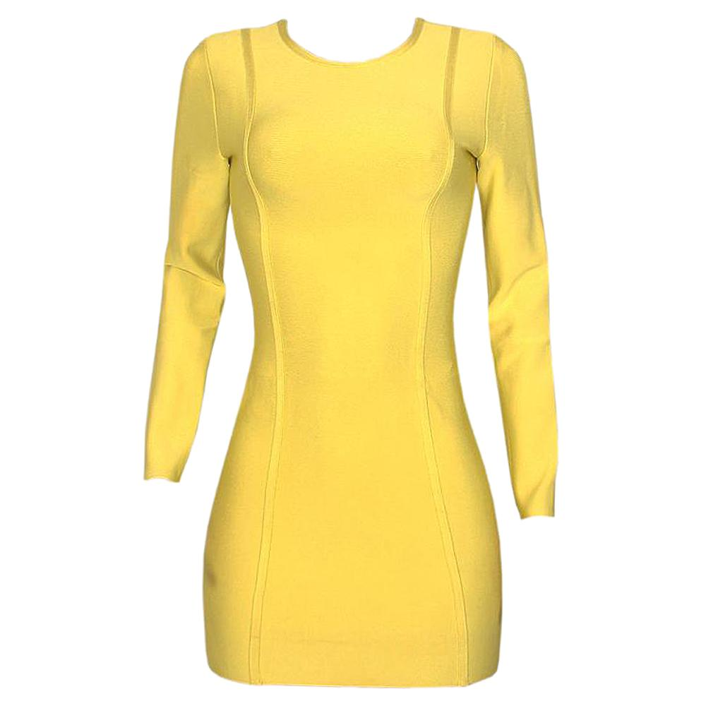 Celeb Boutique Lemon L/Sleeve Ladies Stretch Dress