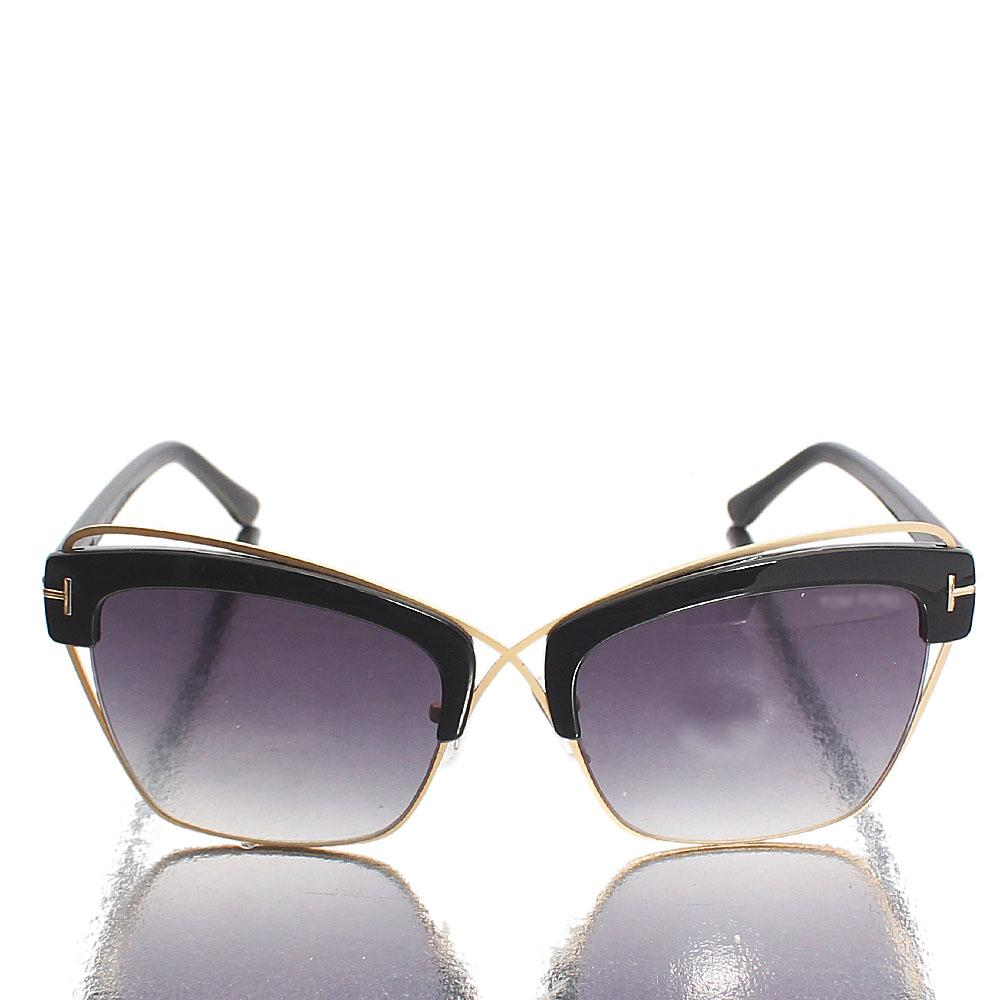 Gold Black Club Master Dark Lens Sunglasses