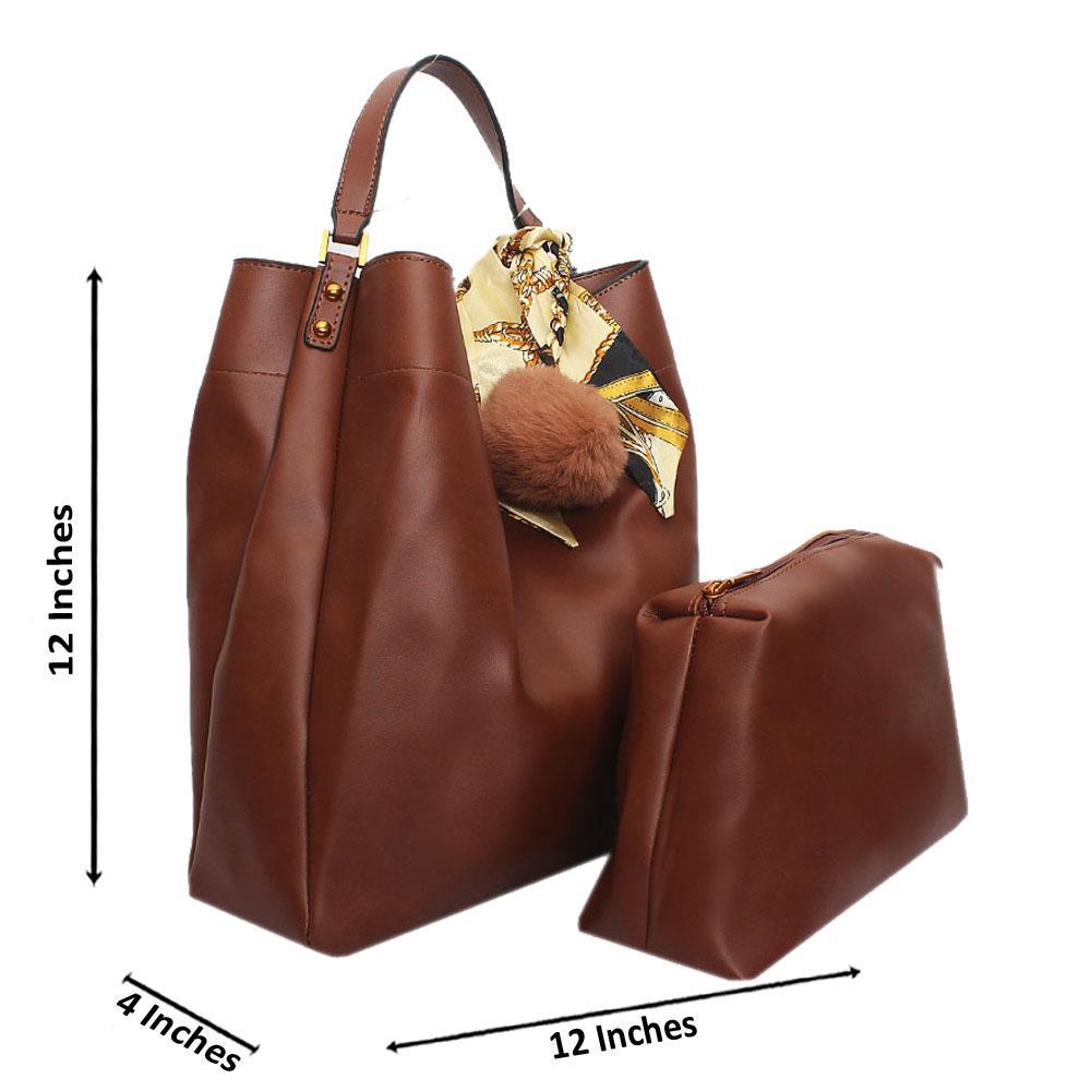 Brown Leather Medium Radiant Handbag
