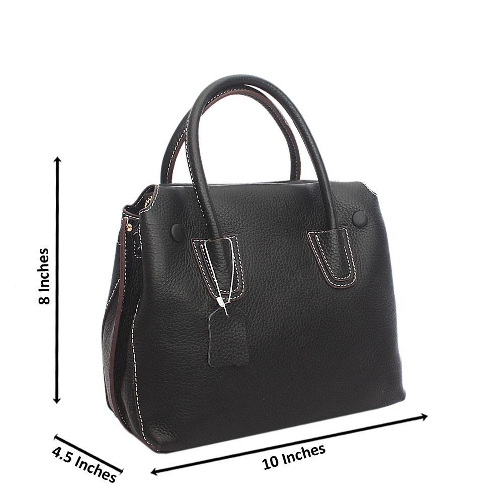Classy Black Tote Tuscany Leather Handbag