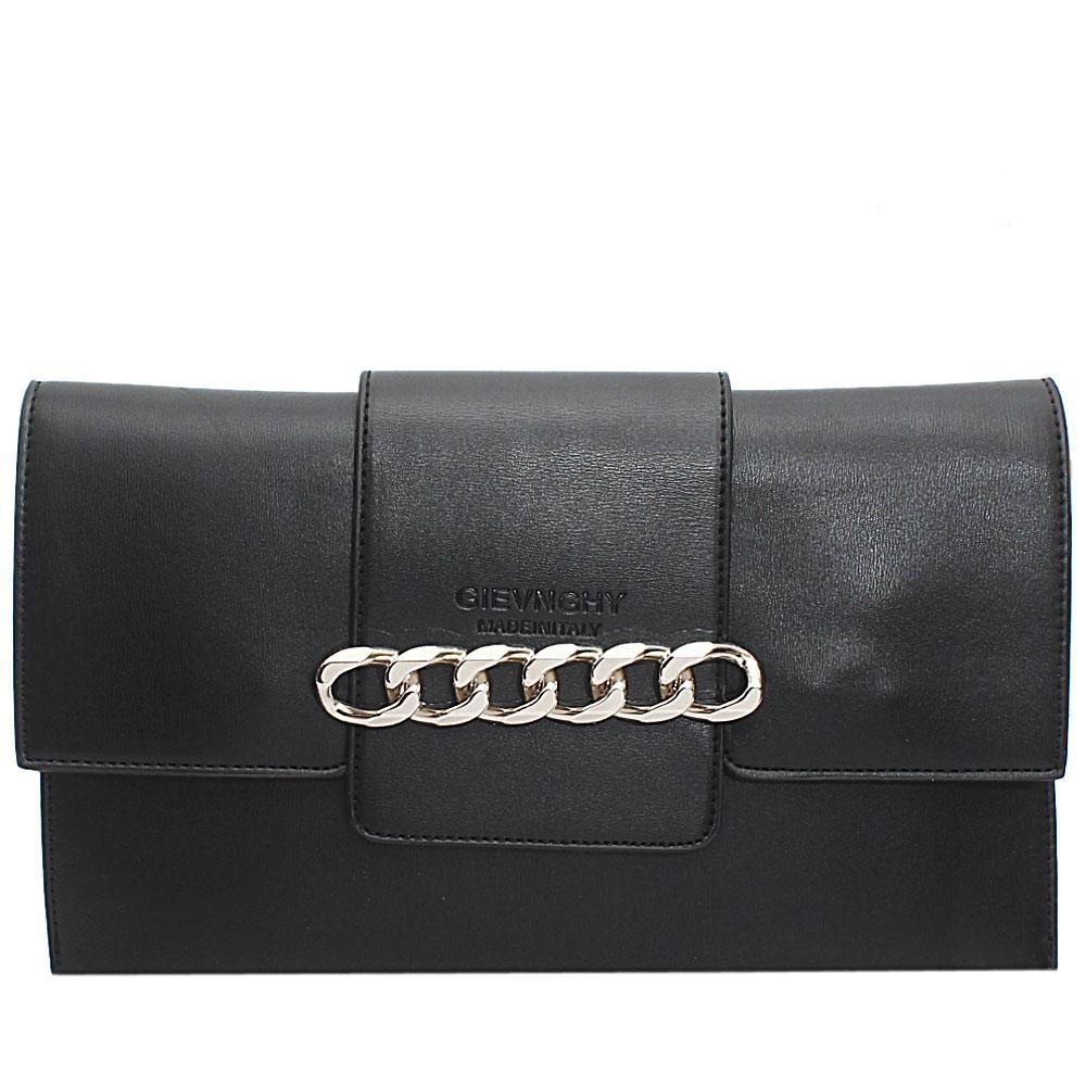 Black  Arelia Design Leather Flat Purse