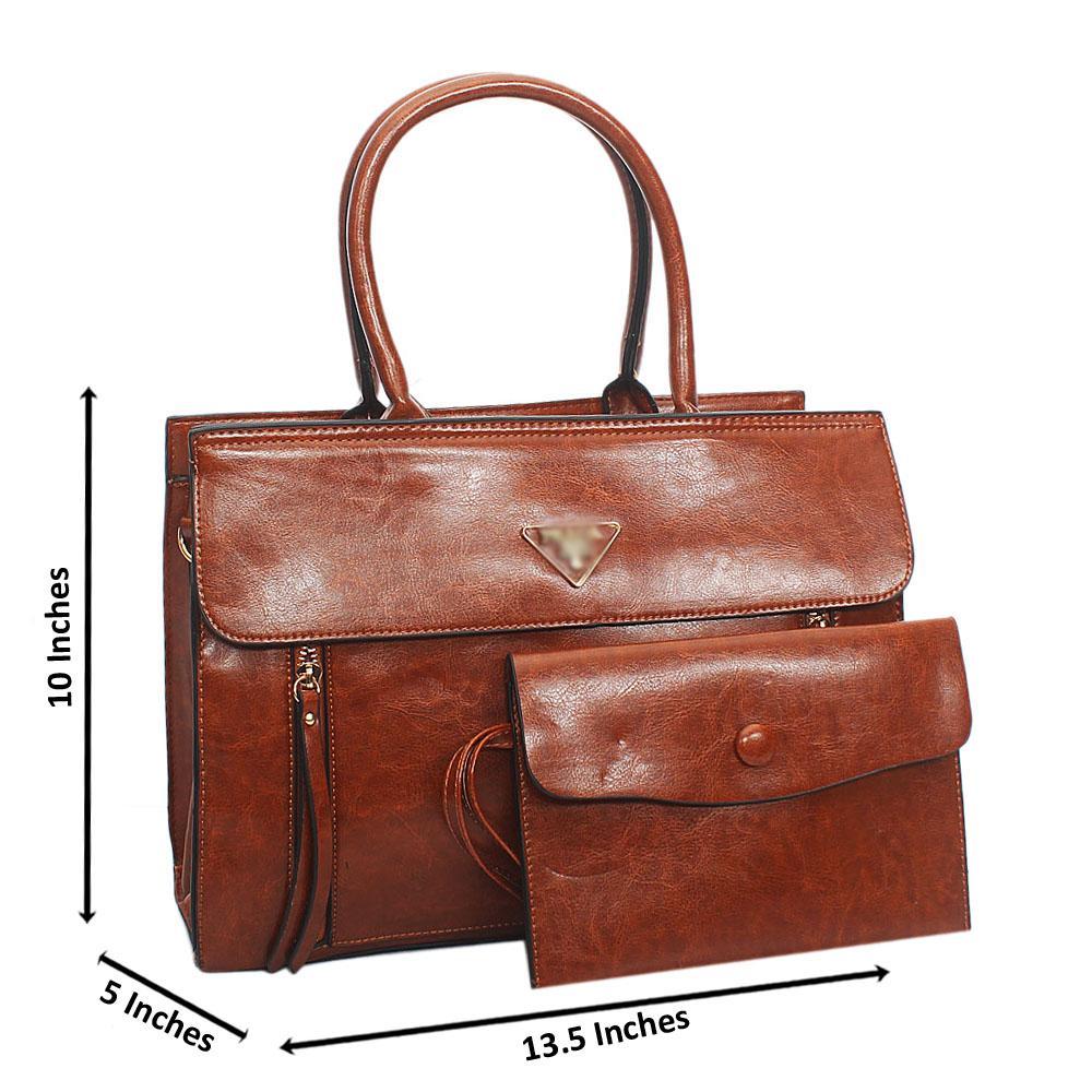 Brown Orla Tuscany Leather Tote Handbag