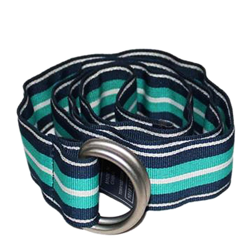 M & S Green/Blue Stripe Polyester Casual Belt-Size S-M