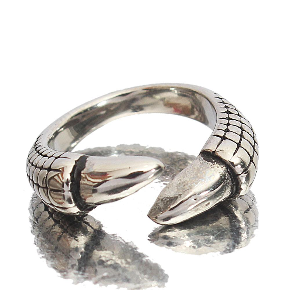 Silver Steel Eagle Nail Classic Ladies Ring