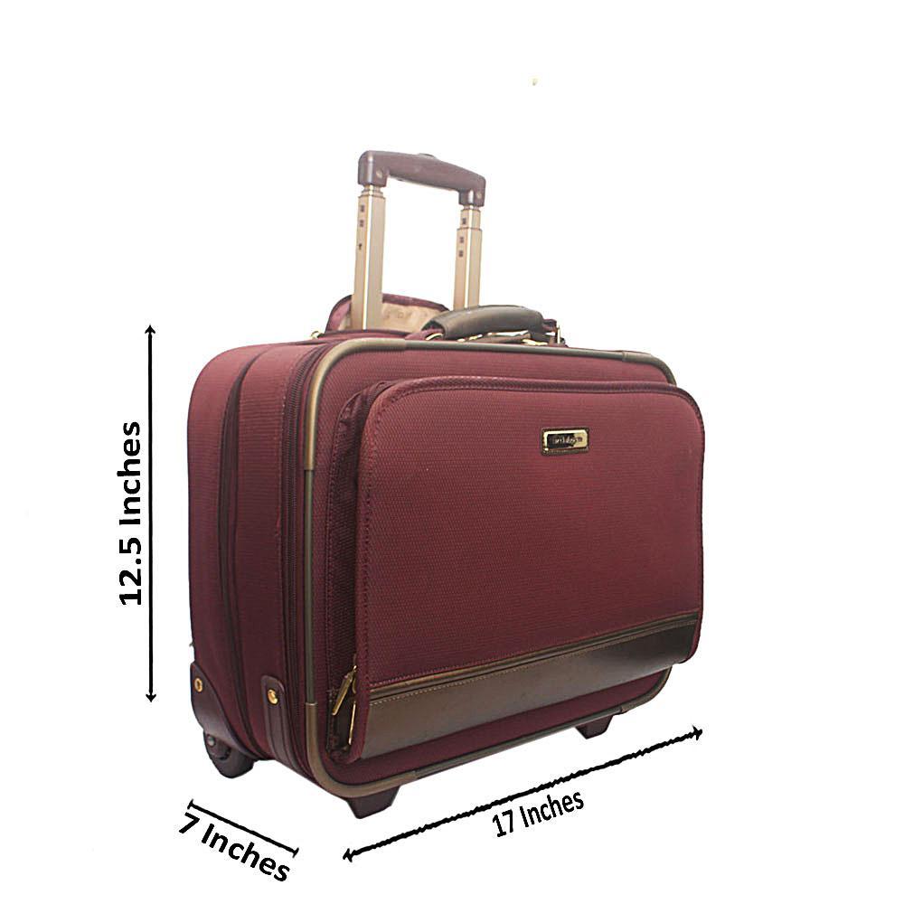 Liz Claiborne Wine Cordura Fabric Comfort Fit Pilot Bag