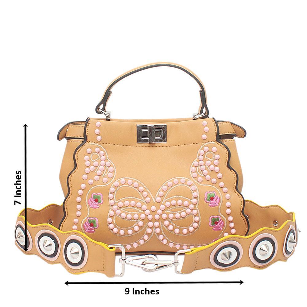 Peekaboo Brown Leather Bag