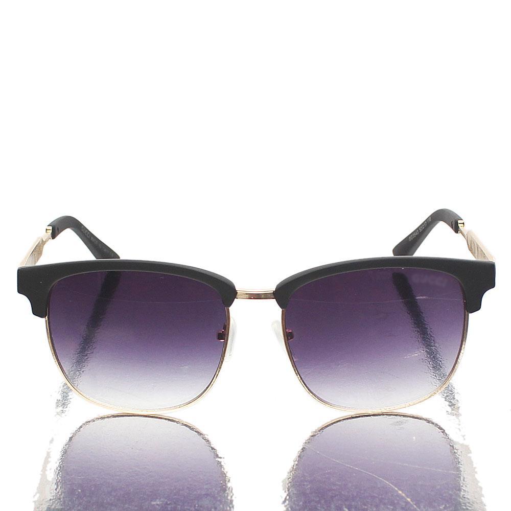 Gold Black Dark Lens Club-Master Sunglasses